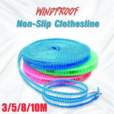 10M Non-slip Nylon Washing Clothesline Outdoor Travel Camping Clothes Line Rope • 2.78£