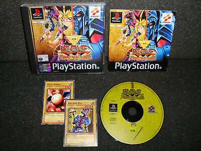 Yu-Gi-Oh! Forbidden Memories With Cards – PS1 Game With Manual – VGC PAL UK • 29.95£