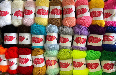 JOBLOT BUNDLE: 15 X 25g BALLS OF CYGNET DK Little Ones Double Knitting Wool Yarn • 16.75£