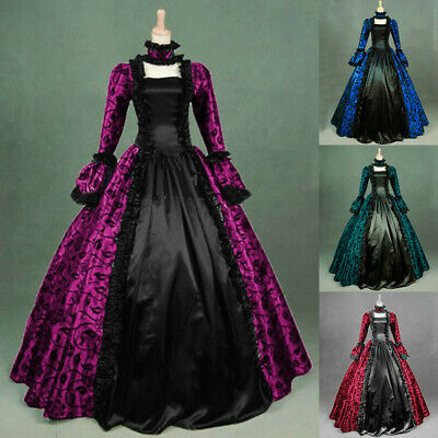 £25.21 • Buy Women Medieval Gothic Retro Dress Victorian Cosplay Steampunk Ball Gown Dresses