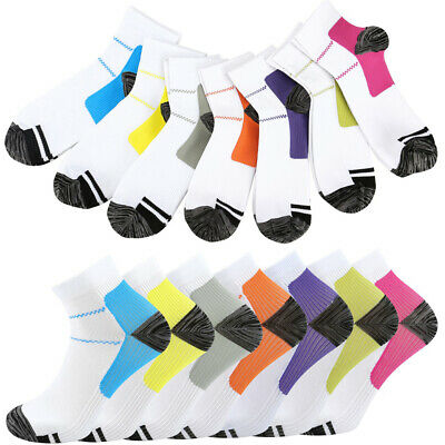 £7.19 • Buy Compression Short Socks Foot Arch Ankle Athletic Running Sports Medical Support