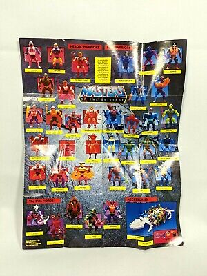 $35 • Buy Vintage MOTU Masters Of The Universe Figure Vehicle Poster Not Marked Checklist