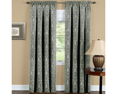 $24.49 • Buy Achim Sutton Blackout Window Curtain Rod Pocket Sage 52 X 63 One Panel Only