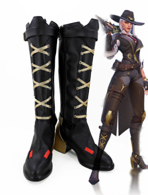 AU69.72 • Buy Game Overwatch OW Ashe Cosplay Shoes Long Boots