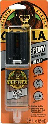 $ CDN15.51 • Buy Gorilla 2 Part Epoxy, 5 Minute Set, .85 Ounce Syringe, Clear, (Pack Of 1)