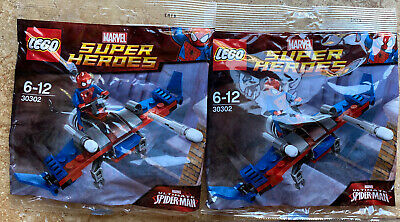 £14.63 • Buy LEGO MARVEL X2 30302 Spider-Man & Glider SUPER Heroes Missiles NEW  - 2 Polybags