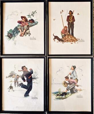 $ CDN73.34 • Buy 4 Norman Rockwell 8 X 10  Framed Color Print's -not Signed-