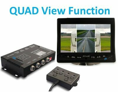 AU220 • Buy Four-Channel 4 Camera Quad View Switch Box Mirror Dash Mount Navigation Monito