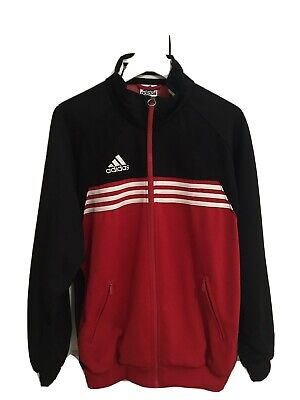 Adidas Vintage Track Top 80s 90s Size D6 Brand With 3 Stripes Red Black • 39.90£