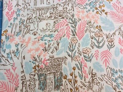 £3.25 • Buy Peter Pan Fabric, 'The Little House' Delicate Illustrations By Michael Miller