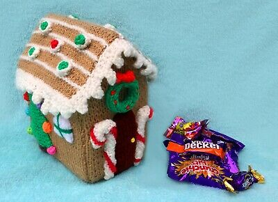 £2.99 • Buy KNITTING PATTERN - Christmas Gingerbread House Sweet Holder 17 Cms Tall
