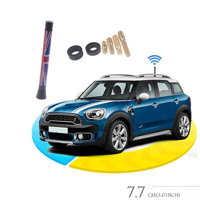 3  Car Styling Union Jack UK Flag Short Antenna For MINI Cooper S R55 R56 R60 • 2.99£