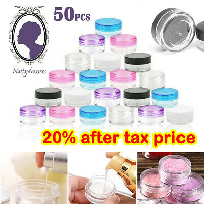 £5.49 • Buy 50X Durable Plastic Sample Mini Small Bottle Container Pot Jar Cosmetic Tool 5ml