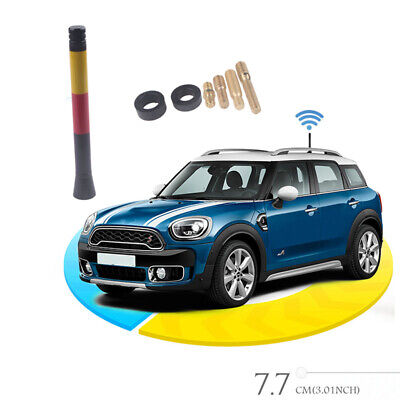 3  Car Styling Germany Flag Short Antenna For MINI Cooper S R55 R56 R60 NEW • 2.99£