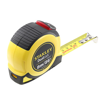 Stanley Tylon 8 Metre 26 Feet Metric Imperial Dual Lock Metal Tape Measure Gauge • 8.95£
