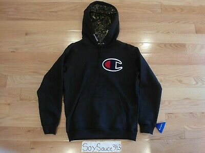 $ CDN553.34 • Buy New Supreme X Champion Paisley Black Big Logo Pullover Hoodie Size Small Fw13