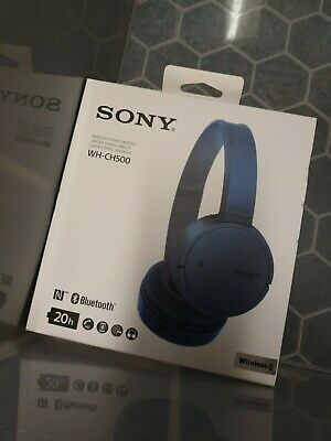 Sony WH-CH500 Wireless Bluetooth NFC On-Ear Headphones - Blue • 24.99£