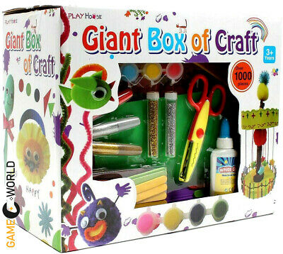 1000 Pieces Arts And Crafts Box Set Kit Children Kids Gift Boys Girls Toys NEW • 17.99£