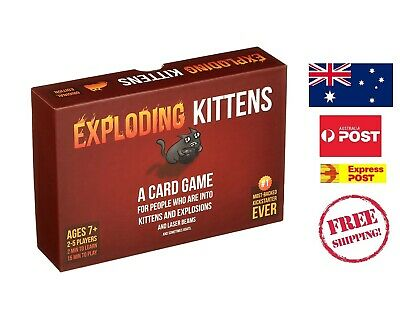AU69.99 • Buy Exploding Kittens Card Game Teenager Fun Relax Play Home Friends Family  NEW