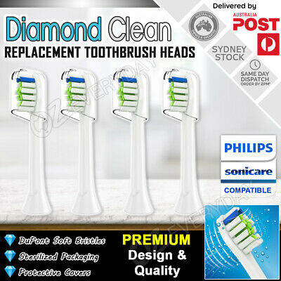 AU9.89 • Buy 4pcs DIAMOND CLEAN Philips Sonicare Toothbrush Replacement Brush Heads HX6064