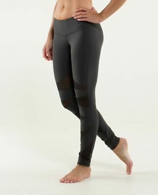$ CDN239.22 • Buy VERY RARE LULULEMON Tech Mesh Leggings 10 Black Soot