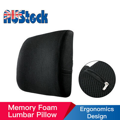 AU17.99 • Buy Memory Foam Lumbar Back Support Pillow Cushion With Pocket Office Car Seat Chair