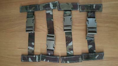 Genuine British Army MTP Osprey Molle 4x T Bar Side Clips / Straps Op's Panel • 6.99£