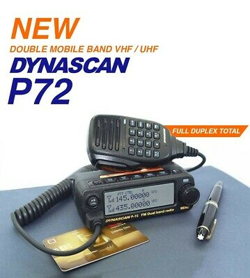 DYNASCAN P 72 DUAL BAND VHF UHF  MOBILE AMATEUR RADIO 2m 70cm • 98.95£