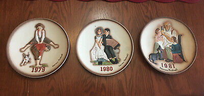 $ CDN17.71 • Buy Lot Of 3 Norman Rockwell Collector Plates 1979-1981 Leapfrog Toymaker Lovers
