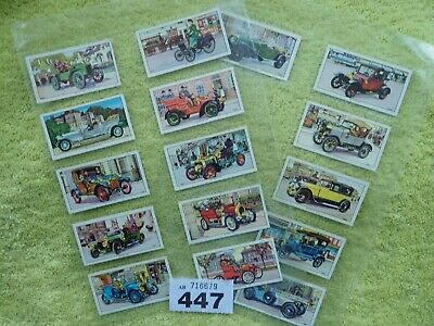 KELLOGG  Veteran Motor Cars Full Set Of 16 Trade Cards • 4.50£