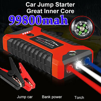 AU79.99 • Buy 12V 99800mAh Vehicle Jump Starter Car Battery Charger Booster Power Bank Compass