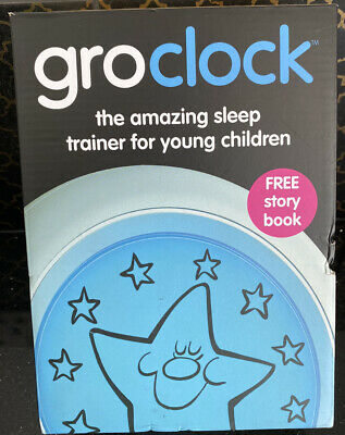 Grow Clock Sleep Trainer Children Night Alarm Kids Bed Time With Free Story Book • 32£