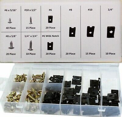 £6.95 • Buy 170pc Assorted Spire Clips U Nuts Captive Speed Fasteners Self Tapping Screws Uk