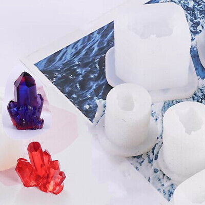 Silicone 3D Crystal Cluster Stone Resin Casting Mold Jewelry Making Mould Craft • 5.58£