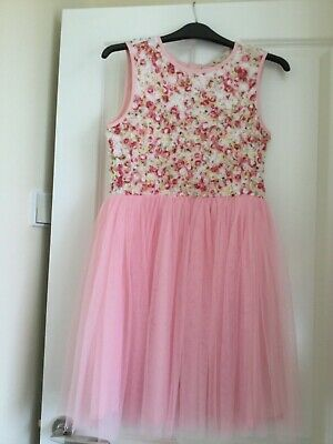 Yumi Pink Floral Girls Dress Age 11/12 Worn Once • 7.50£