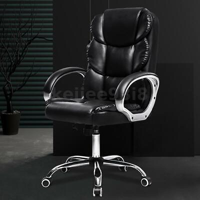 High Back Office Chair Gaming Chair Executive Recliner Computer Swivel Desk Seat • 86.99£