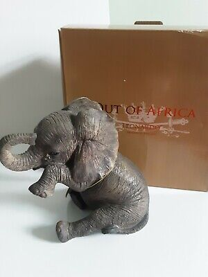 £18.50 • Buy Out Of Africa By Leonardo Sitting BABY ELEPHANT Crying Tear Ornament NewLP12862