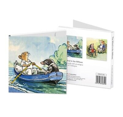 Wind In The Willows Notelet Card Wallet - 8 Vintage Art Cards In 2 Designs • 5.99£