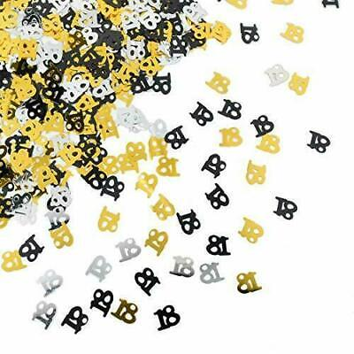 Black Gold Silver Birthday Party Table Confetti Decorations All Age Sprinkles • 2.29£