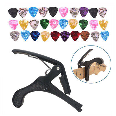 $ CDN9.72 • Buy Guitar Capo Clip Quick Change Tune With 30 Guitar Picks For Acoustic Electric