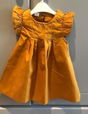 Baby Dress Mustard  New Born To 3 Years, Sale, Reduced To Clear. • 6£