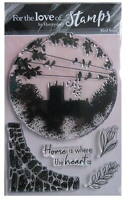Hunkydory For The Love Of Clear Stamp Set BIRD SONG Church Silhouette • 6.45£
