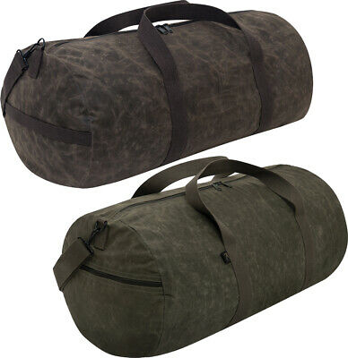 $24.99 • Buy Waxed Canvas Shoulder Duffle Bag Water Resistant Large Carry Bag 24  X 12  X 12