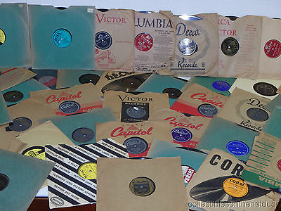 $27.99 • Buy Great Lot Of (24) 78 RPM 10  Records In SLEEVES RESALE WHOLESALE Random 20's-60s