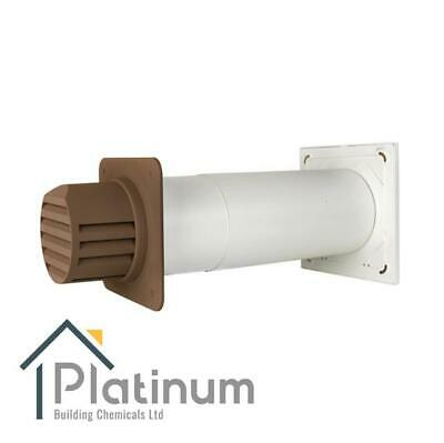 £98.80 • Buy Passyfier 100 BROWN | Core Dehumidifier Wall Vent Kit | Condensation Control
