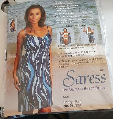 Saress Beach Dress New In Packet Size 14/16 • 4.99£