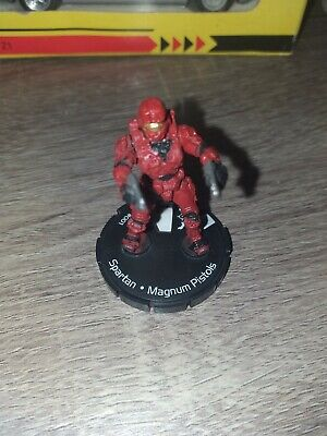 Halo ActionClix Spartan #001 MagnumPistols  RED Version / FIGURES ONLY / Wizkids • 6£