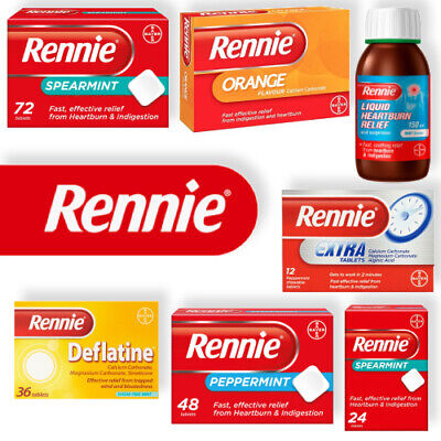 Rennie Heartburn Peppermint Spearmint Chewable Indigestion Heartburn Relief  • 8.50£