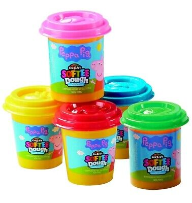 £8.99 • Buy Peppa Pig 5 Pots Pack Set Moulding Modelling Softee Play Dough Clay Lid Moulds