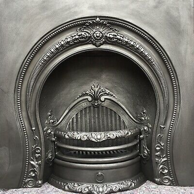 Cast Iron Fireplace / Fire Surround / Insert / Victorian Arch Style / Solid Fuel • 280£